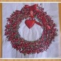 Vente au détail: serviette en papier couronne noël