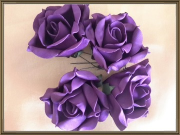Sale retail: roses violettes en mousse lot 2