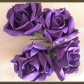 Vente au détail: roses violettes en mousse lot 2