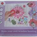 Vente au détail: guirlande en bois à faire soi-même