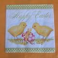 Vente au détail: serviette en papier poussins et oeuf de pâques