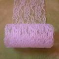Sale retail: ruban brodé en dentelle rose