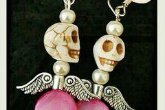 Selling: Day of the Dead Angel earrings