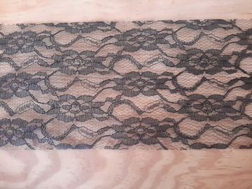 Vente au détail: ruban brodé en dentelle noire