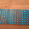 Vente au détail: ruban strass turquoise