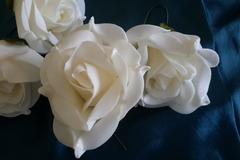 Vente au détail: roses blanches en mousse  lot 2