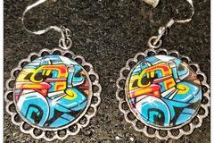 Selling: Graffiti Earrings - Photo Jewelry - Women's earrings