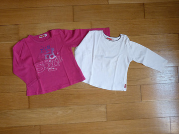 Vente: Lot 2 T-shirts Mexx fille manches longues 12 mois