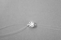 Vente au détail: Bracelet fil de nylon strass Swarovski 7 mm