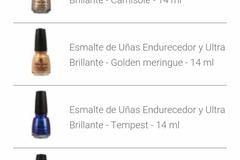 Venta: Próximamente esmaltes de uñas CHINA GLAZE completamente nuev
