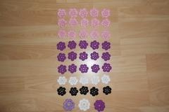 Vente au détail: fleurs multicouleur en coton dmc au crochet
