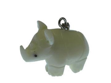 Vente au détail: Porte clés rhinocéros tagua