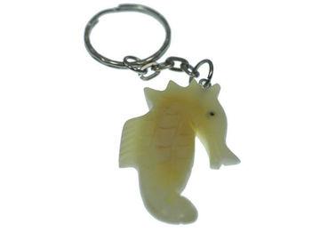 Vente au détail: Porte clés hippocampe tagua