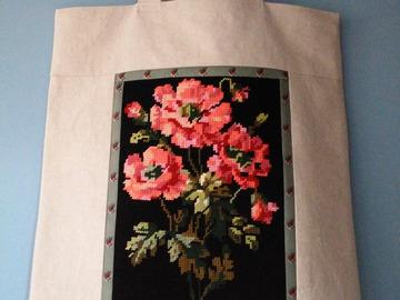 """Sale retail: Sac cabas, sac à ouvrage """"Bouquet d'anémones"""""""