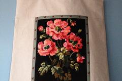 """Vente au détail: Sac cabas, sac à ouvrage """"Bouquet d'anémones"""""""