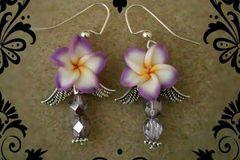 Selling: Light PURPLE angel/flower earrings