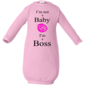 Selling: I'm not a Baby, I'm a Boss - Infant Layette Regular