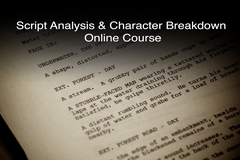 Selling: Actors Script Analysis and Character Breakdown Online Course