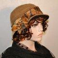 Vente au détail: Chapeau en laine et polyester beige Camillia 11
