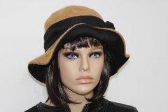 Vente au détail: Chapeau très chic en laine bouillie beige Camilia 15