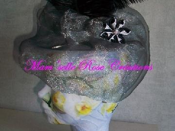 Sale retail: Bibi de cérémonie gris et noir
