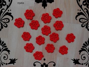 Vente au détail: 40 fleurs en coton dmc au crochet/fleurs crochet