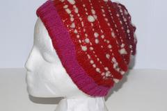 A vendre: Bonnet merinos en rouge gradient filé main