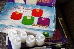 Ilmoitus: Led-kynttilät (24 kpl) x 2