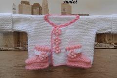 Vente au détail: tricot bébé ensemble/brassiere naissance/ensemble bébé