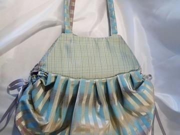 Sale retail: N° 2 sac à plis dans un joli camaïeu de bleu