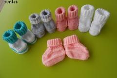 Vente au détail: chaussons bébé/chausson bebe/5 paire chaussons bebe  laine