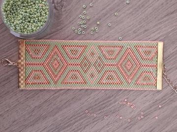 Vente au détail: Manchette perles de MIYUKI délicat