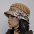 Vente au détail: Chapeau en laine bouillie beige très seyant Camilia 17