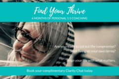 Services: Find Your Thrive - 6 Months Personal Coaching