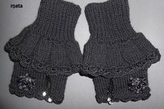 Vente au détail: mitaines manchettes/Gants d'hiver/mitaines femme en laine no