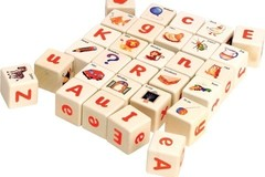 Products: Wooden Alphabet Blocks from bebabo european toys
