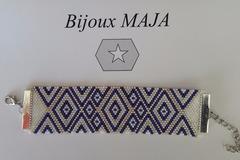 Vente au détail: Bracelet Manchette Perles de Miyuki Délicat