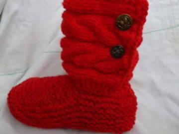 Sale retail: chausson d'intérieur montant avec  tige torsadée , pantoufle