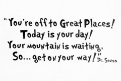 Products: Dr. Seuss Decal - You're off to great places!