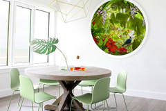 Products: ''Tui Paradise'' - 1200mm dia. circular framed acrylic art