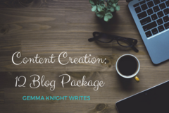 Services: 12 Blog Package - $720