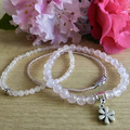 Products: Rose Quartz Bracelets (set of 3)