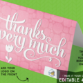 Products: Editable 'Forever Thank You' Greeting Card