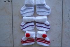 Vente au détail: chaussons bébé/chausson laine bebe/3 paire chaussons bebe la