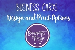 Services: Business Cards design and print