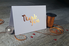 Products: Foil Printed Thank You Cards with Envelopes