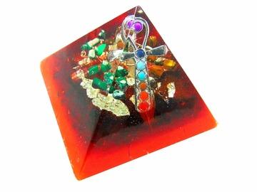 Vente au détail: Orgonite pyramide énergétique croix de vie Ankh