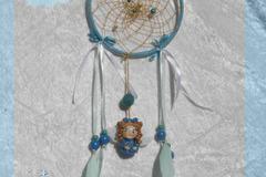 Vente au détail: Attrape rêves féerique ange fille bleue Oëlie