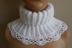 Vente au détail: tour de cou ,snood laine/snood blanc dentelle laine