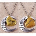 Sell: 100 sets I love you to the moon mother daughter necklaces